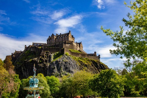 Edinburgh Castle near university of Edinburgh, Scotland
