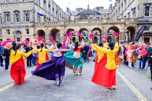 Edinburgh's Festivals while studying at university of Edinburgh Scotland