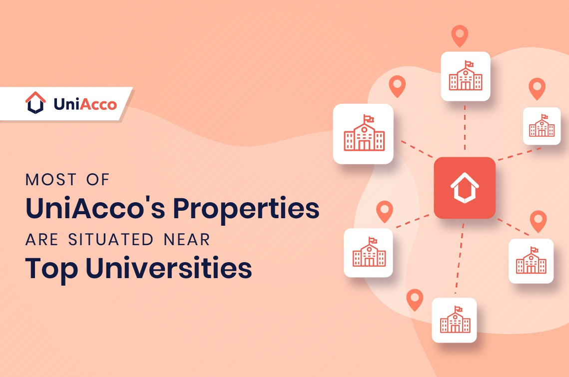 Most Of UniAcco's Properties Are Situated Near Top Universities